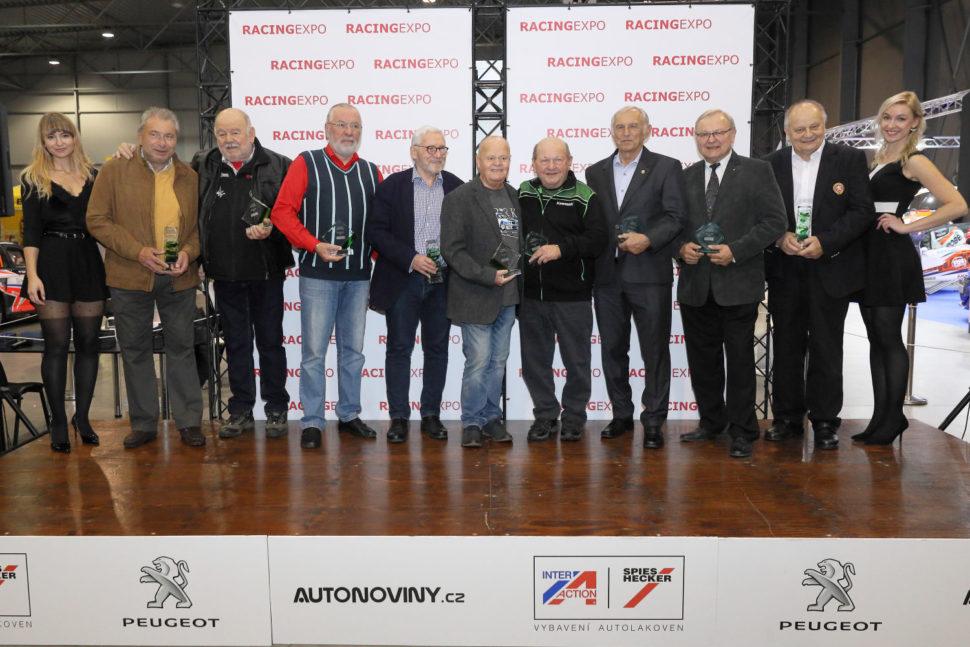 Vyhlášení cen Legenda motosportu, Legenda autosportu a Osobnost motorsportu na výstavě Racing Expo
